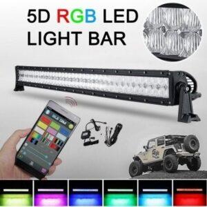 BARRA LED RETA RGB 240W LENTE 5D 42 CREE LEDS